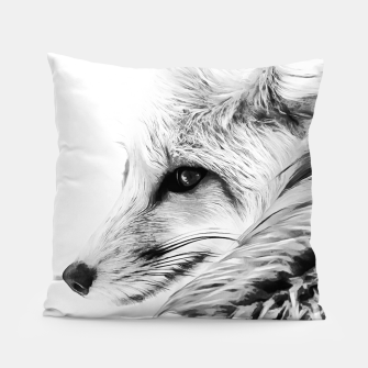 Thumbnail image of red fox digital acryl painting acrbw Pillow, Live Heroes