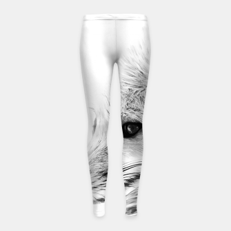 Thumbnail image of red fox digital acryl painting acrbw Girl's leggings, Live Heroes