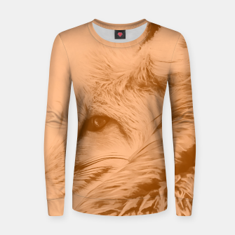 Thumbnail image of red fox digital acryl painting acrcb Women sweater, Live Heroes