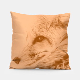Thumbnail image of red fox digital acryl painting acrcb Pillow, Live Heroes