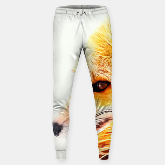 Thumbnail image of red fox digital acryl painting acrstd Sweatpants, Live Heroes