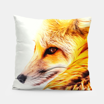 Thumbnail image of red fox digital acryl painting acrstd Pillow, Live Heroes