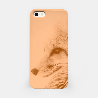 Thumbnail image of red fox digital acryl painting acrcb iPhone Case, Live Heroes