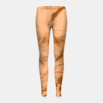 Thumbnail image of red fox digital acryl painting acrcb Girl's leggings, Live Heroes