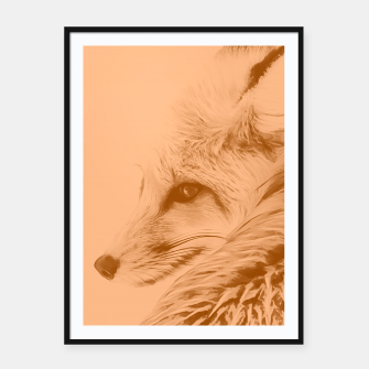 Thumbnail image of red fox digital acryl painting acrcb Framed poster, Live Heroes