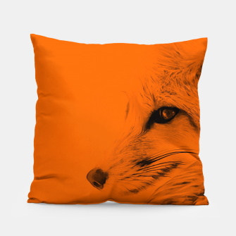 Thumbnail image of red fox digital acryl painting acrob Pillow, Live Heroes