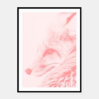 Thumbnail image of red fox digital acryl painting acrpw Framed poster, Live Heroes