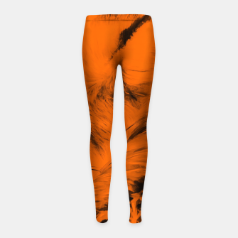 Thumbnail image of red fox digital acryl painting acrob Girl's leggings, Live Heroes