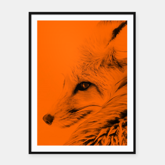 Thumbnail image of red fox digital acryl painting acrob Framed poster, Live Heroes