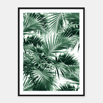 Miniatur Tropical Palm Leaf Jungle #1 #tropical #decor #art  Plakat mit rahmen, Live Heroes