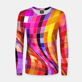 Thumbnail image of Twisted Waves Women sweater, Live Heroes