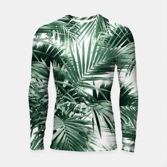 Thumbnail image of Tropical Palm Leaf Jungle #1 #tropical #decor #art  Longsleeve rashguard, Live Heroes