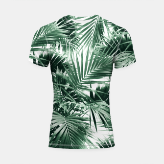 Thumbnail image of Tropical Palm Leaf Jungle #1 #tropical #decor #art  Shortsleeve rashguard, Live Heroes