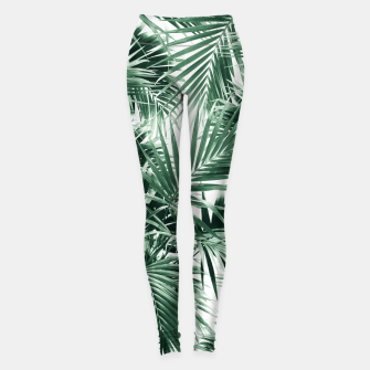 Miniatur Tropical Palm Leaf Jungle #1 #tropical #decor #art  Leggings, Live Heroes