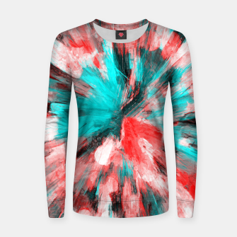 Thumbnail image of color explosion gogh pattern go2s Women sweater, Live Heroes
