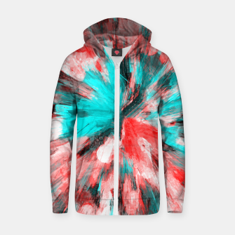Thumbnail image of color explosion gogh pattern go2s Zip up hoodie, Live Heroes