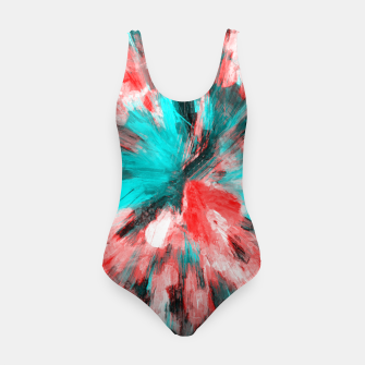 Thumbnail image of color explosion gogh pattern go2s Swimsuit, Live Heroes