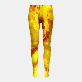 Thumbnail image of color explosion gogh pattern goyr Girl's leggings, Live Heroes