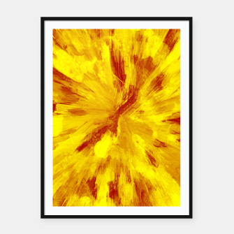 Thumbnail image of color explosion gogh pattern goyr Framed poster, Live Heroes