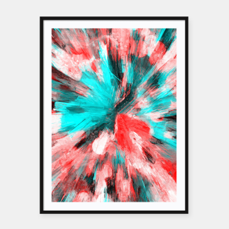 Thumbnail image of color explosion gogh pattern go2s Framed poster, Live Heroes