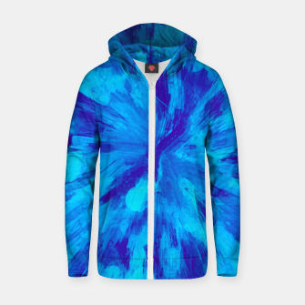 Thumbnail image of color explosion gogh pattern gobt Zip up hoodie, Live Heroes