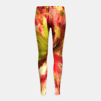 Thumbnail image of color explosion gogh pattern gow85 Girl's leggings, Live Heroes