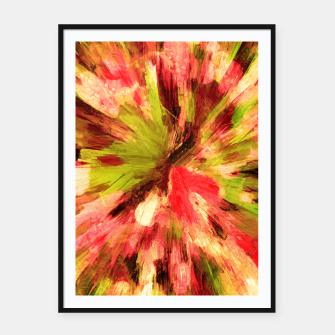 Thumbnail image of color explosion gogh pattern gow85 Framed poster, Live Heroes