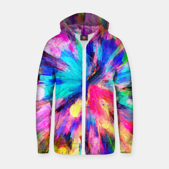 Thumbnail image of color explosion gogh pattern gostd Zip up hoodie, Live Heroes