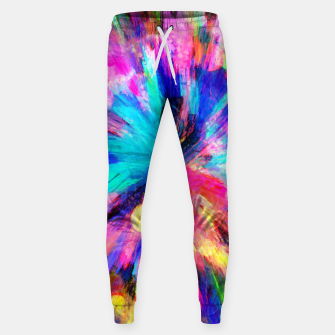 Thumbnail image of color explosion gogh pattern gostd Sweatpants, Live Heroes