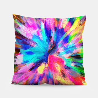 Thumbnail image of color explosion gogh pattern gostd Pillow, Live Heroes