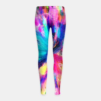 Thumbnail image of color explosion gogh pattern gostd Girl's leggings, Live Heroes