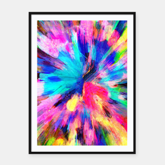 Thumbnail image of color explosion gogh pattern gostd Framed poster, Live Heroes