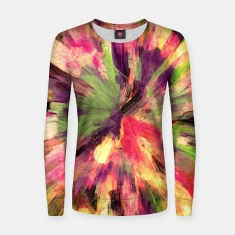 Thumbnail image of color explosion gogh pattern gosepia Women sweater, Live Heroes