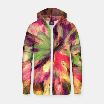 Thumbnail image of color explosion gogh pattern gosepia Zip up hoodie, Live Heroes