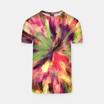Thumbnail image of color explosion gogh pattern gosepia T-shirt, Live Heroes