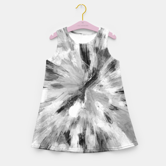 Thumbnail image of color explosion gogh pattern gobw Girl's summer dress, Live Heroes