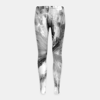 Thumbnail image of color explosion gogh pattern gobw Girl's leggings, Live Heroes