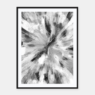 Thumbnail image of color explosion gogh pattern gobw Framed poster, Live Heroes