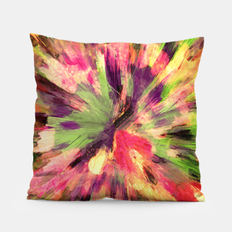 Thumbnail image of color explosion gogh pattern gosepia Pillow, Live Heroes