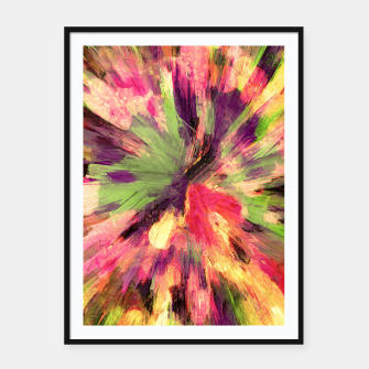 Thumbnail image of color explosion gogh pattern gosepia Framed poster, Live Heroes