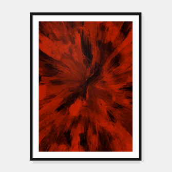 Thumbnail image of color explosion gogh pattern gorb Framed poster, Live Heroes