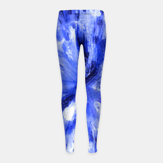 Thumbnail image of color explosion gogh pattern godb Girl's leggings, Live Heroes