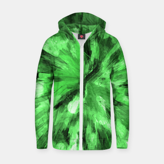 Thumbnail image of color explosion gogh pattern gode Zip up hoodie, Live Heroes