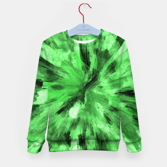 Thumbnail image of color explosion gogh pattern gode Kid's sweater, Live Heroes