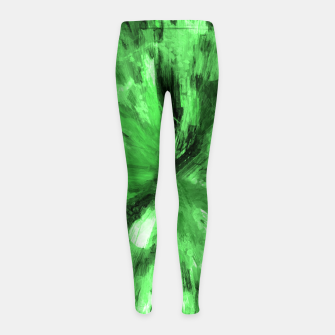 Thumbnail image of color explosion gogh pattern gode Girl's leggings, Live Heroes