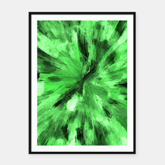 Thumbnail image of color explosion gogh pattern gode Framed poster, Live Heroes