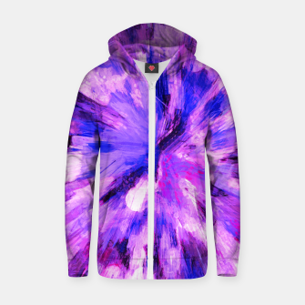 Thumbnail image of color explosion gogh pattern gomag Zip up hoodie, Live Heroes