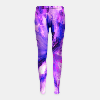 Thumbnail image of color explosion gogh pattern gomag Girl's leggings, Live Heroes