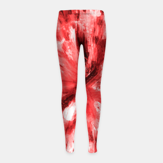 Thumbnail image of color explosion gogh pattern godr Girl's leggings, Live Heroes