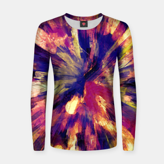 Thumbnail image of color explosion gogh pattern gols Women sweater, Live Heroes